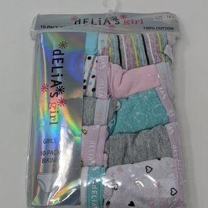 dELIA's Cotton Bikini underwear panties 10 pack
